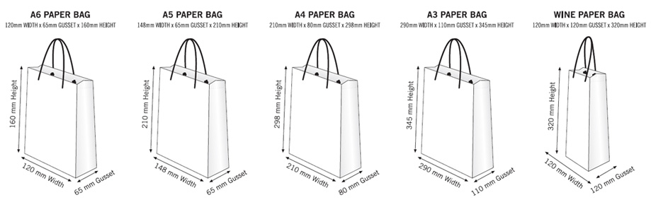Paper Gift Bags can be supplied unprinted or branded with your logo.