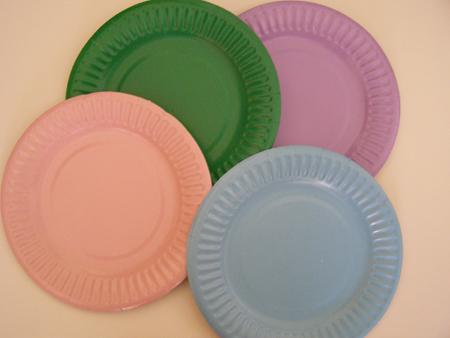 COLOURED 180mm PAPER PLATES & Gordonu0027s Productions - Party Pals - Coloured 180mm Paper Plates